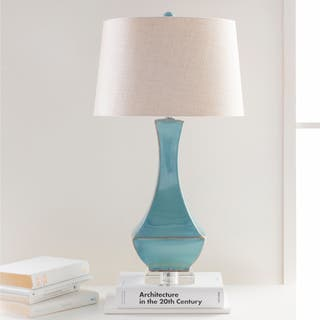 Blue table lamps for less overstock oliver james genco glazed table lamp aloadofball Choice Image