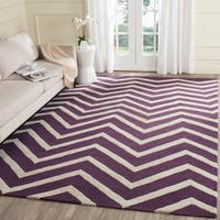 Safavieh Handmade Moroccan Cambridge Purple/ Ivory Wool Rug - 8' x 10'