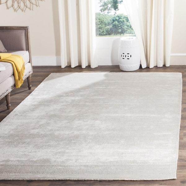 Safavieh Handmade Mirage Modern Tonal Silver/ Grey Viscose Rug (8' x 10')