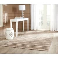 Safavieh Handmade Himalaya Natural/ Multicolored Wool Stripe Area Rug - 6' x 9'