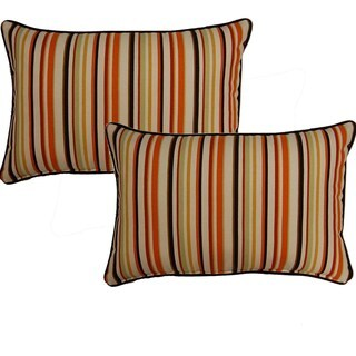 Dockside Cinnamon 12.5-in Throw Pillows (Set of 2)
