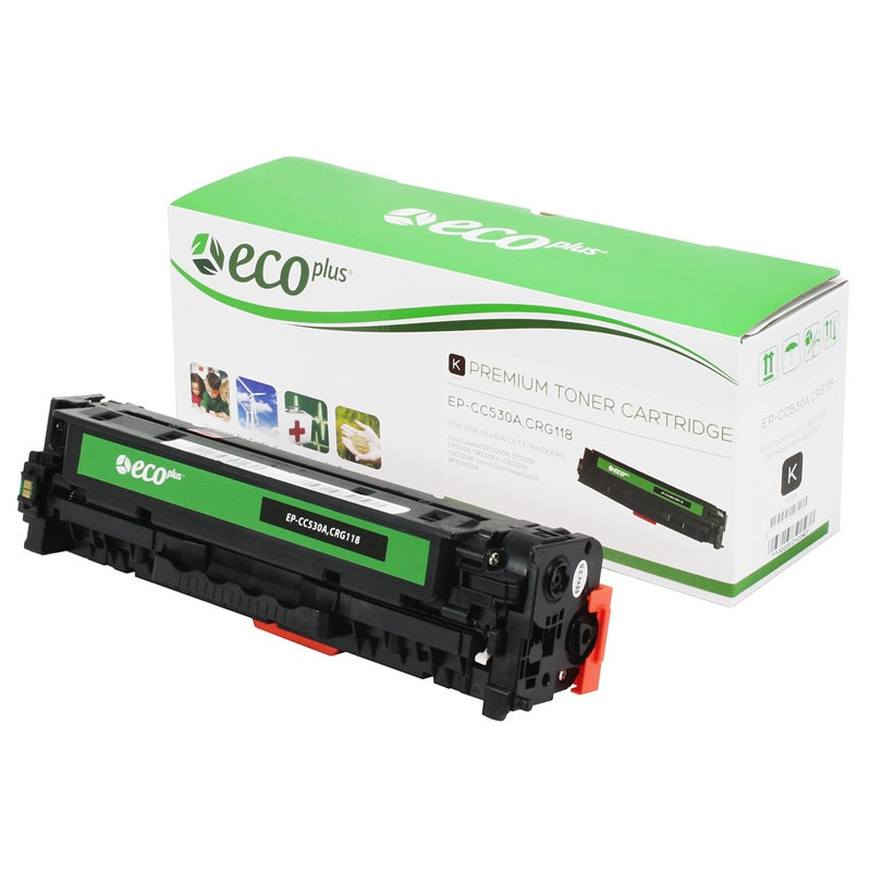 HP Compatible Ecoplus CC530A Remanufactured Black Toner C...