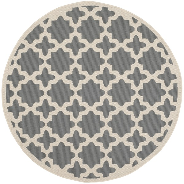 Safavieh courtyard all weather anthracite beige indoor for All weather patio rugs