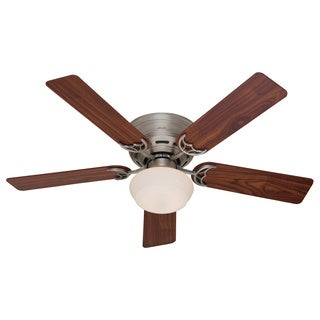 Hunter Fan Low Profile III Plus 52-inch White with 5 Cherry Walnut Blades