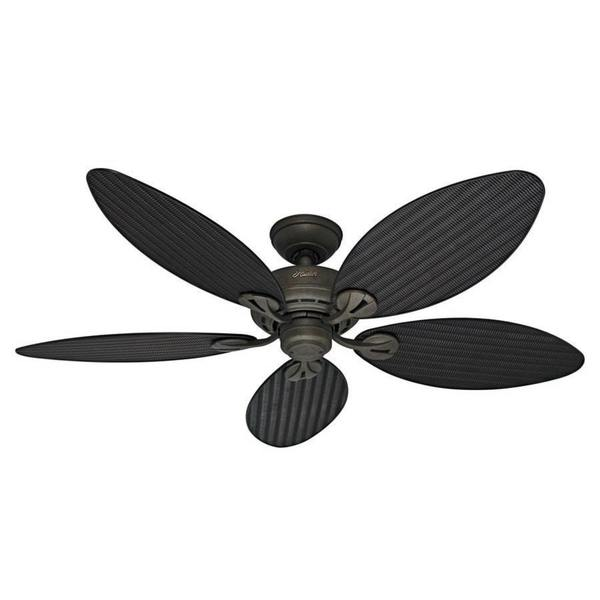 Shop Hunter Fan Bayview Palm Leaf 54-inch 5-blade Ceiling