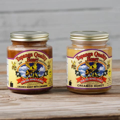 Topanga Quality Original/ Cinnamon Creamed Honey Bundle (Set of 2)