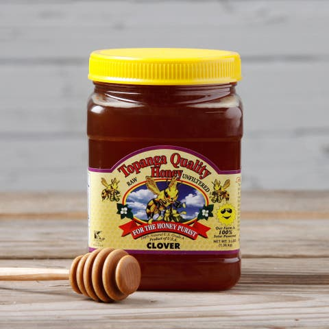 Topanga Quality 3-pound Raw Unfiltered Clover Honey