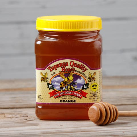 Topanga Quality Orange Raw Unfiltered Honey (3 Pounds)