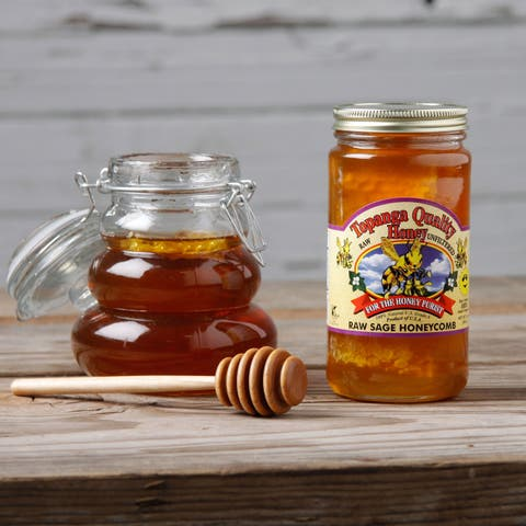 Topanga Quality Raw Sage Honey and Honeycomb (Set of 2)