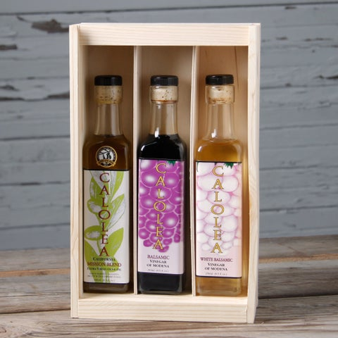 Calolea Olive Oil and Aged Vinegar Gift Box (Set of 3)