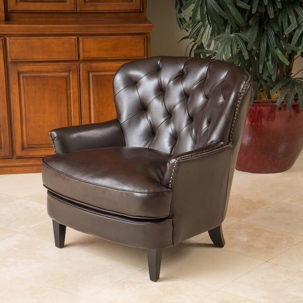 Mya Diamond Tufted Club Chair by Christopher Knight Home