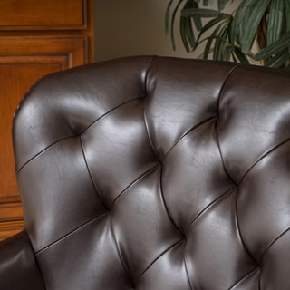 Mya Diamond Tufted Club Chair by Christopher Knight Home