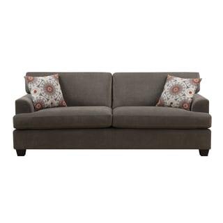 Emerald Lorena Platinum Grey 2-Pillow Sofa