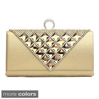 J. Furmani 'Michelle' Pyramid Studded Evening Bag