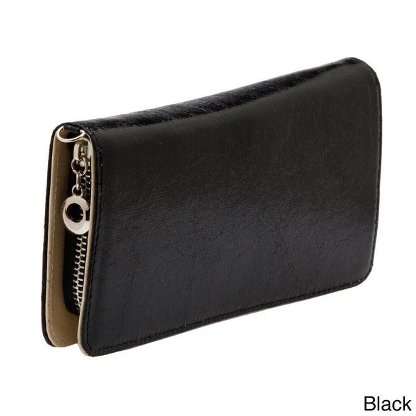 J. Furmani Solid Zip-around Wristlet Wallet