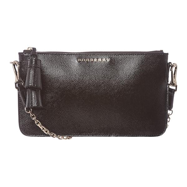Burberry 3910086 Patent London Leather Tassel Shoulder Bag