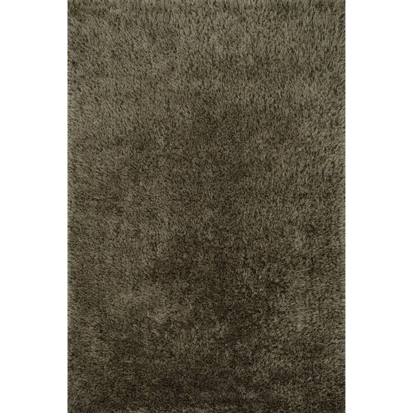 Hand-tufted Dream Charcoal Shag Rug - 5' x 7'6
