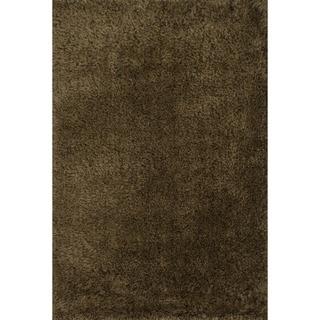 Hand-tufted Dream Brown Shag Rug (7'9 x 9'9)