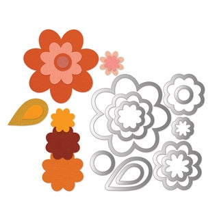 Sizzix Framelits Flower Layers/ Leaf Die Set (11 Pack)
