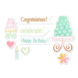 Sizzix Framelits Birthday Cake Die Set with Stamps (12 Pack)
