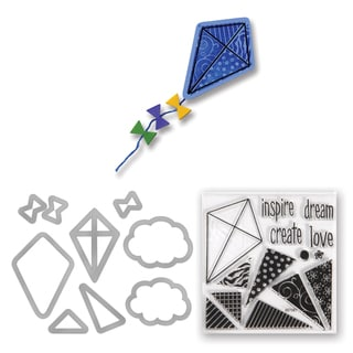 Sizzix Framelits Kites Dies with Stamps