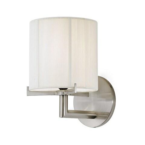 Sonneman Lighting Boxus 1-light Satin Nickel Round Sconce