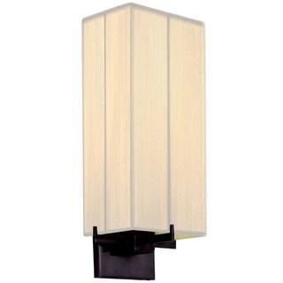 Sonneman Lighting Boxus 1-light Black Brass ADA Sconce