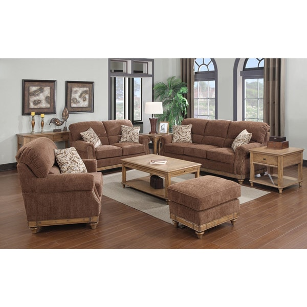 Emerald grand rapids 4 piece living room set free for 6 piece living room set