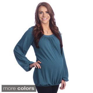 Ashley Nicole Maternity Women's Long Sleeve Peasant Top