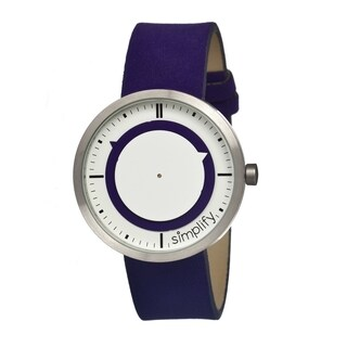 Simplify Men's '0708 The 700' Purple Leather Strap Watch