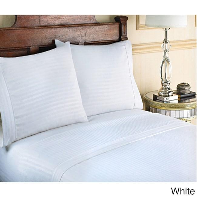 100/% Cotton Sateen Top/_Linens 4-Piece Bed Sheet Set 400 Thread Count