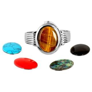 Vernier Women's Interchangeable Stone Bangle Watch