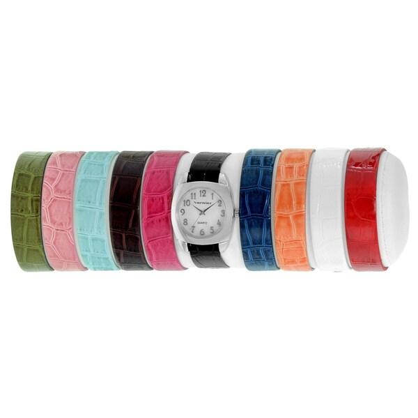 Vernier Women's 10-strap Interchangeable Set Mother of Pearl Face Watch