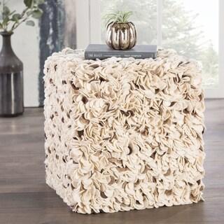 Modern Grey Cube Shape Wool Pouf