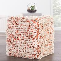 Modern Red Cube Shape Wool (16x18x18) Pouf