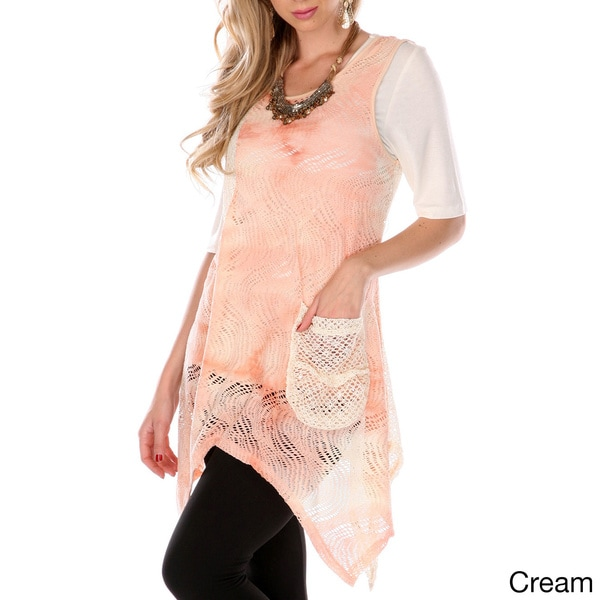 Women's Airy Sleeveless Spliced Top