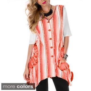 Women's Sleeveless Striped Spliced Top