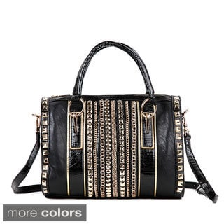 Nicole Lee 'Brook' Chain Rows Boston Bag