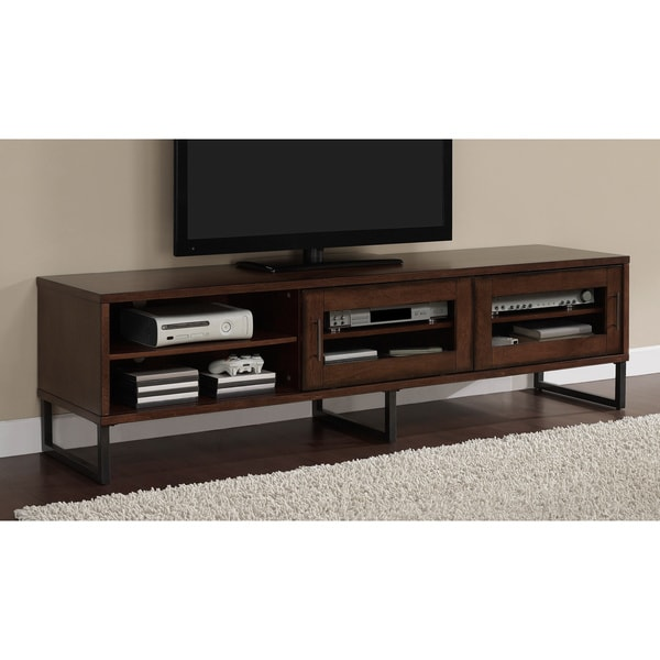 Oliver & James 74-inch Breckenridge Glass-door Entertainment Center