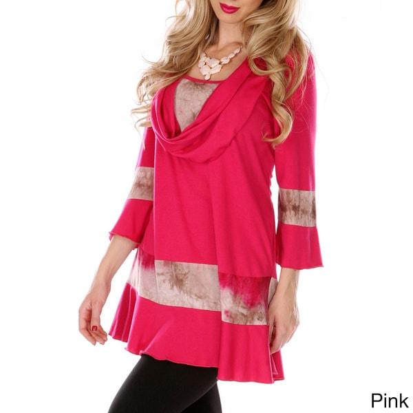 Women's Tie Dye Detail Long Sleeve Blouse