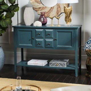 Shop Safavieh Charlotte Slate Teal Storage Sideboard