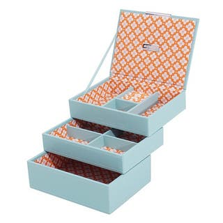WOLF Stackables Mini 3-piece Jewelry Tray Set (Option: Blue)|https://ak1.ostkcdn.com/images/products/8692355/P15945221.jpg?impolicy=medium