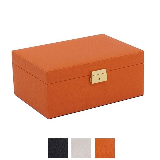 Wolf Designs Wolf Brighton Small Jewelry Box (Orange)