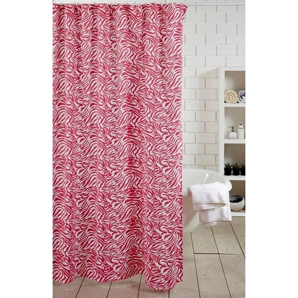 Zebra Hot Pink Shower Curtain