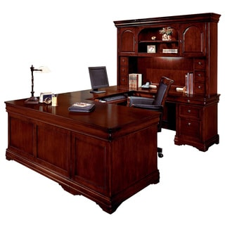 DMI Furniture Rue De Lyon Executive Overhead Hutch U-desk Office