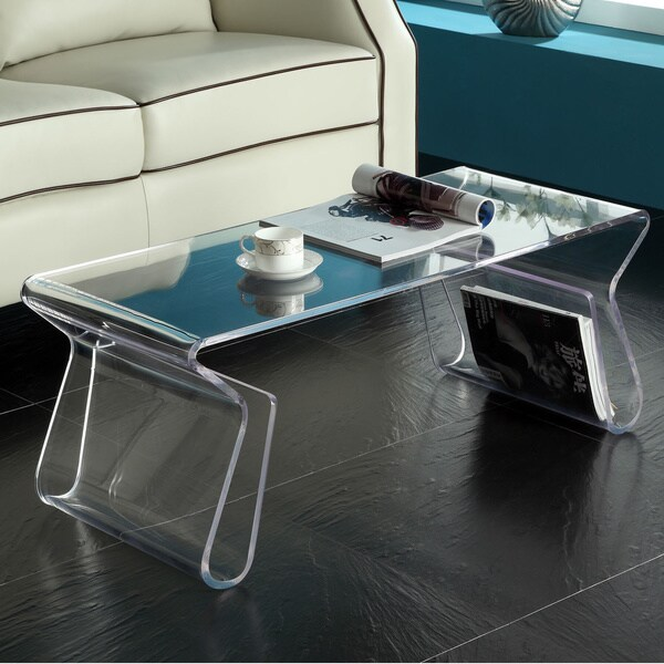 Charming Clear Acrylic Coffee Table/ Magazine Rack Images