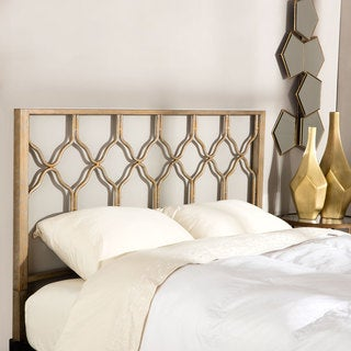 Brushed Gold Honeycomb Headboard - Thumbnail 0