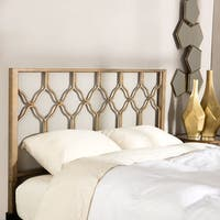 The Curated Nomad Alameda Brushed Gold Honeycomb Headboard