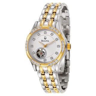 Bulova Women's 98R173 'BVA Series' Stainless Steel and Yellow Gold-Plated Mechanical Automatic Watch