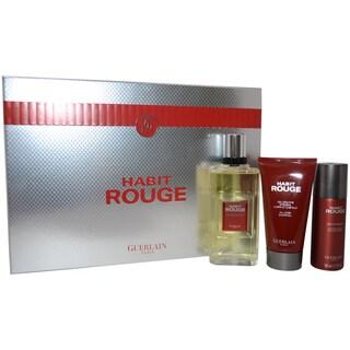 Guerlain Habit Rouge Men's 3-piece Gift Set